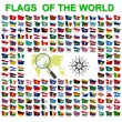 Set of Flags of world sovereign states. Vector illustration. — Stok Vektör #65800027