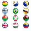 Set circle icon  Flags of world sovereign states. Vector illustr — Stock Vector #65814131