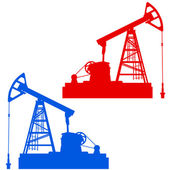 Oil pumpjack. Oil industry equipment — Stock Vector