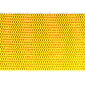 Metal holed grid background yellow hole. Vector illustration. — Stock Vector