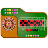 Tables, American  Roulette. Vector illustration. — Stock Vector