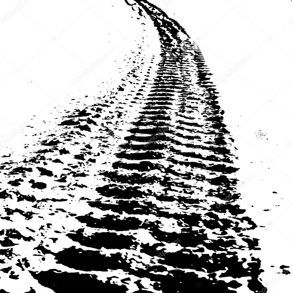 Off Road Tire Tread Pattern Grunge hintergrund mit...