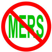 Stop Mers Corona Virus sign. — Stock Vector