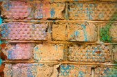 Background from colored old bricks — Stock Photo