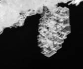 Macro frosty pattern on an ice crystal natural — Stock Photo