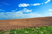 Agricultural arable land field in the spring for crops — Foto Stock