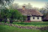 Alte Hütte, ukraine — Stockfoto