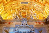 Interior of the Geographic gallery in the Vatican Museums — Stock Photo