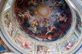 The ceiling in one of the galleries of the Vatican Museums — Stockfoto