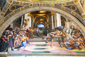 The fresco of the 16th century in the Vatican Museum — Stock Photo