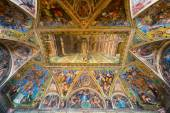 The ceiling in one of the rooms of Raphael in the Vatican Museum — 图库照片