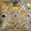 Постер, плакат: The ceiling in one of the rooms of Raphael in the Vatican Museum