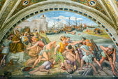 Battle of Ostia. The fresco of the 16th century in the Vatican M — Zdjęcie stockowe