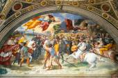 The fresco of the 16th century in the Vatican Museum — Zdjęcie stockowe