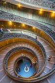 The famous spiral staircase with beautiful rails in Vatican Muse — Stock Photo