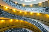 Spiral stairs with beautiful rails in Vatican Museum — Zdjęcie stockowe