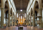 The interior of the Basilica of Santa Croce in Florence, Italy — Stock Photo