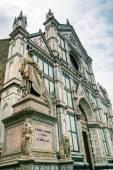 Basilica of santa croce, florence, İtalya — Stok fotoğraf