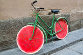 Funny bike on the street in Florence, Italy — Stock Photo
