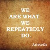 Quote of the ancient philosopher Aristotle — Stock Photo