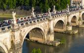 View of the Ponte Sant Angelo in Rome — Stock Photo