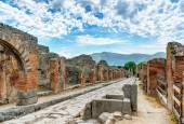Street in Pompeii, Italy — Stock Photo