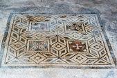 Floor mosaic in in Pompeii, Italy — Stock Photo