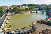 View of Rome from Castel Sant Angelo — Stock Photo