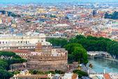 Rome skyline with Castel Sant Angelo — Stock Photo