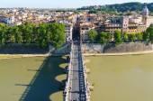 Ponte Sant Angelo in Rome — Stock Photo