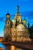 Church of the Savior on Spilled Blood at night in St. Petersburg — Stock Photo