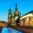 Church of the Savior on Spilled Blood at night in St. Petersburg — Stock Photo #58019569