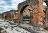 Street in Pompeii, Italy — Stock Photo