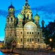 Church of the Savior on Spilled Blood at night in St. Petersburg — Stock Photo #58448141