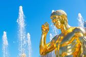 Detail of the Grand Cascade in Petrodvorets, Saint Petersburg, R — Stock Photo