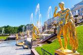 Peterhof Palace (Petrodvorets) in Saint Petersburg, Russia — Stock Photo