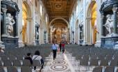 在若望大殿,罗马大教堂 di San Giovanni 的内部 — 图库照片