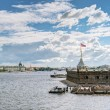 View of the St. Petersburg and the Neva River, Russia — Stock Photo #61689259