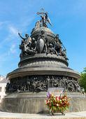 千年的俄罗斯诺夫哥罗德伟大的纪念碑 — 图库照片