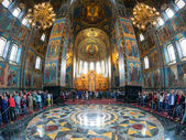 Interior of Church of the Savior on Spilled Blood, St Petersburg — Stock Photo