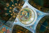 Ceiling of Church of the Savior on Spilled Blood, St Petersburg — Stock Photo