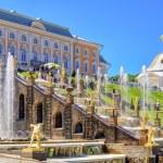 Peterhof Palace with Grand Cascade, Saint Petersburg — Stock Photo #66003177