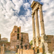 The ruins of the temple of Castor and Pollux in Rome — Stock Photo #66437989