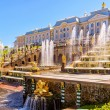 Peterhof Palace with Grand Cascade in St Petersburg — Stock Photo #66908979