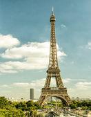 Horizonte de Paris com a torre eiffel — Fotografia Stock