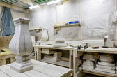 Stone carving room — Stock Photo