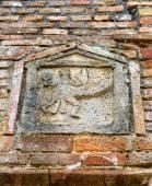 Image of a man with an erect phallus, Pompeii — Stock Photo