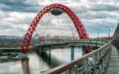 Zhivopisny bridge over the Moskva river, Moscow — Stock Photo