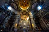 Inside the Church of the Gesu in Rome — Stock Photo