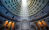 The famous light ray in Pantheon, Rome — Stock Photo
